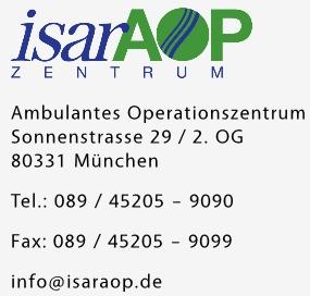 IsarAOP Adresse Sonnenstr. 29. 2. OG