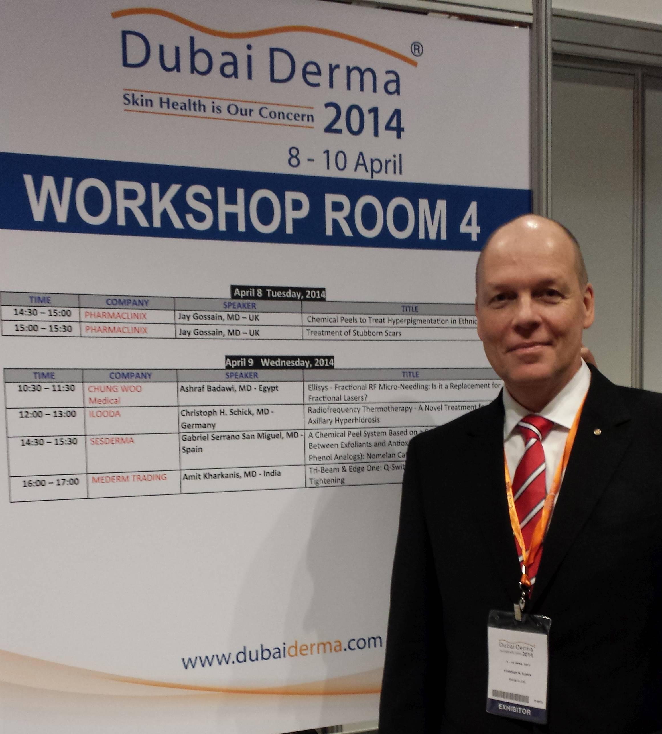Dr. Schick auf der Dubai Derma 2014
