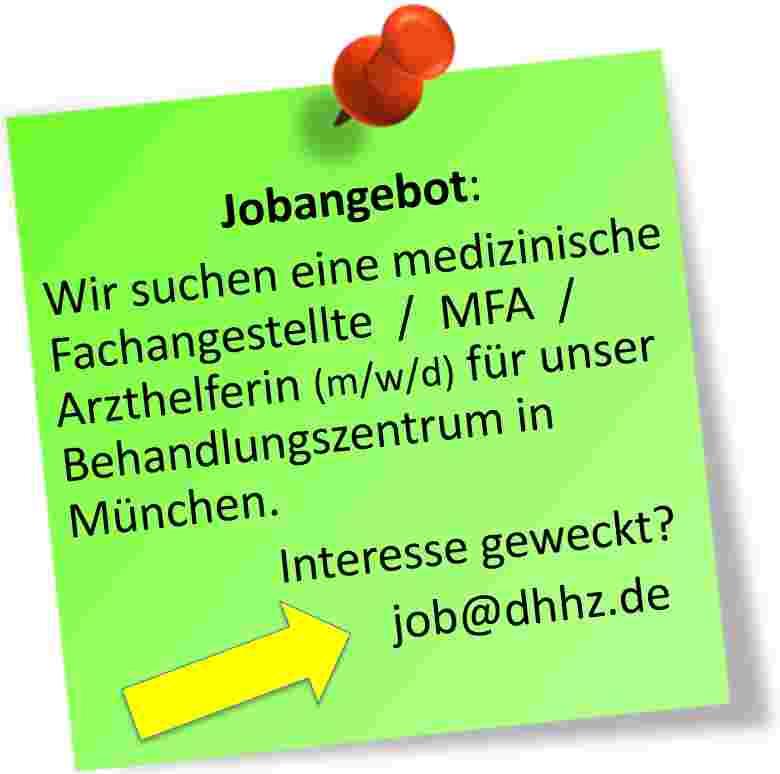 Jobangebot im DHHZ in München